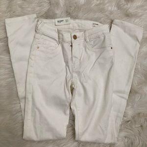 Zara Trafaluc White Skinny Jeans Sz 00 32 New